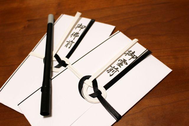香典 郵送 手紙 封筒