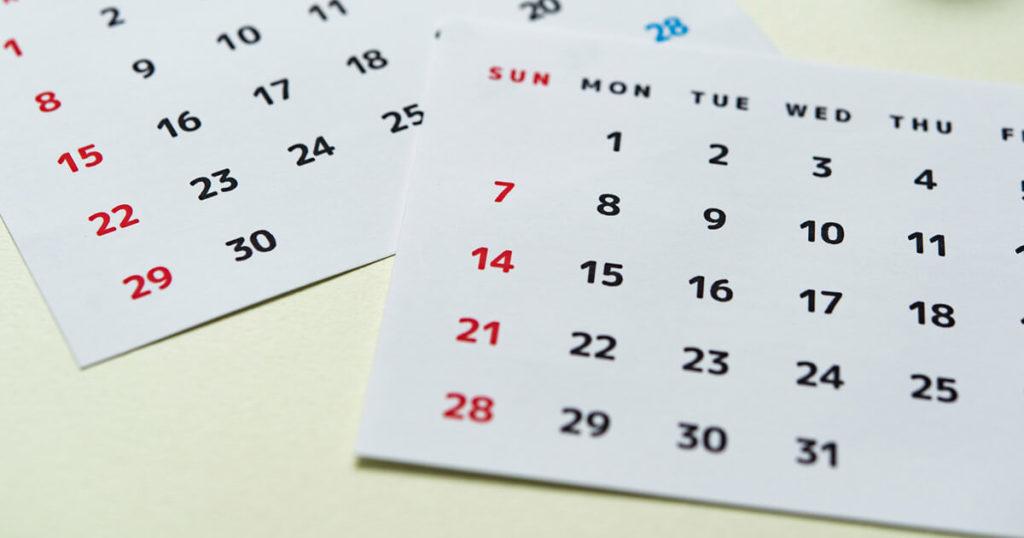 一般的な葬儀のスケジュールは、故人が死亡した翌日に通夜を行い、翌々日に葬儀・告別式を行います。