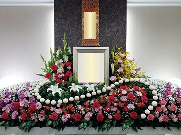ラストメモリー時の葬儀式場の内観。大阪市で家族葬が可能な葬儀場