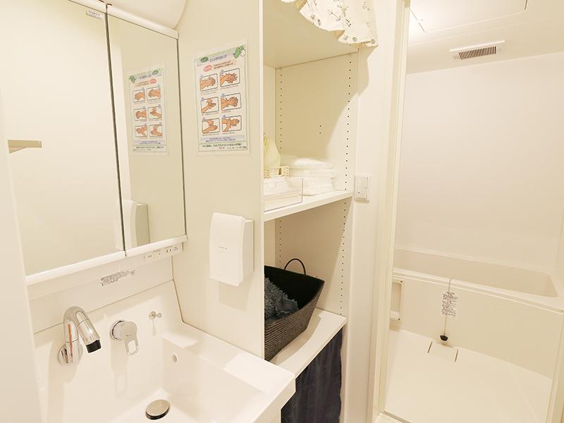 セレモニーハウス尼崎西難波(兵庫県尼崎市)のバスルームの内観。親族控え室に併設されている